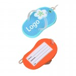 Logo Branded PVC Luggage Tag In The Shape Of Slippers