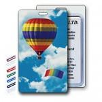 3D Lenticular Hot Air Balloon Stock Image Luggage Tag (Imprinted) Custom Imprinted