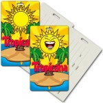 Logo Branded Privacy Luggage Tag w/3D Lenticular Image of Animated Sun (Imprinted)