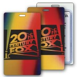 Lenticular Red/Yellow/Green/Black Changing Color Luggage Tag (Imprinted) Custom Printed