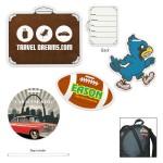 Custom Imprinted Custom Die Cut Luggage Tag