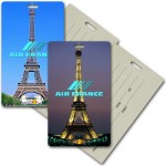 Custom Printed Privacy Luggage Tag w/3D Lenticular Images of the Eiffel Tower (Custom)