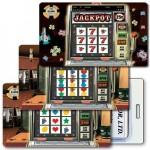 Logo Branded 3D Lenticular Slot Machine/ Casino Stock Image Luggage Tag Horizontal (Imprinted)