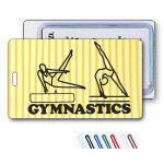 Logo Branded 3D Yellow/White Stripe Lenticular Animation Luggage Tag (Imprinted)