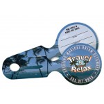 """Logo Branded All-in-One Luggage Tags, Full-Color (3.5"""" Round) 3.5""""x8.25"""""""
