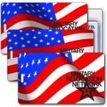 Imprinted Luggage Tag 3D Lenticular Stars & Stripes US Flag Stock Image Custom Imprinted