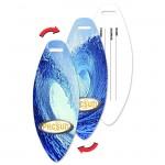 Custom Imprinted Surfboard Luggage Tag w/Ocean Surf Wave Lenticular Flip Design (Custom)