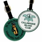 """Custom Printed 3 1/2"""" Embroidered Luggage and Golf Bag Tag"""