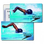 3D Lenticular Olympic Swimmer Stock Image Luggage Tag (Imprinted) Custom Imprinted