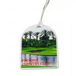 Custom Imprinted Oval Top Golf Tag with Digital Process Imprint