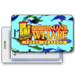 Custom Printed Lenticular Dolphins Swimming Luggage Tag (Imprinted)