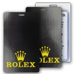 Custom Imprinted Lenticular Black/Gray Changing Color Luggage Tag (Custom)