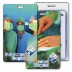 Custom Imprinted Luggage Tag w/3D Flip Lenticular Image of an Operating Room (Imprinted)