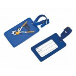 """Custom Imprinted Soft PVC 2D Luggage Tag - Priority (3""""x4.3"""" - 5 Mm Thick)"""