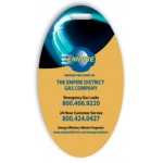 """Logo Branded Laminated Event Tag (2""""x3.5"""") Oval"""