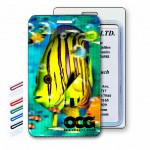 Logo Branded 3D Lenticular Tropical Fish Stock Image Luggage Tag (Imprinted)
