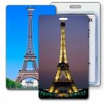 3D Lenticular Eiffel Tower Paris Image Luggage Tag (Custom) Custom Printed