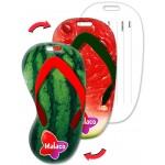 Custom Printed Flip-Flop Shape Luggage Tag w/Watermelon Fruit Lenticular Design (Custom)