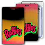 Logo Branded Lenticular Red/Yellow/Black Changing Colors Luggage Tag (Imprinted)