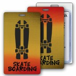 Logo Branded Lenticular Yellow/Orange/Brown Changing Color Luggage Tag (Imprinted)