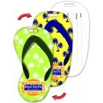 Custom Imprinted Flip-Flop Shape Luggage Tag w/Palm Trees Lenticular Design (Custom)