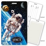 Custom Imprinted Luggage Tag w/Astronaut Lenticular 3D Design (Custom)