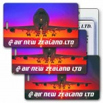 3D Lenticular Jumbo Jet Airplane Stock Image Luggage Tag (Imprinted) Custom Imprinted