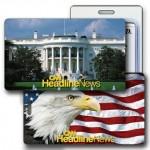 Custom Imprinted 3D Lenticular Luggage Tag White House (Full Custom Designed)