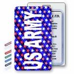 Custom Printed Lenticular Change Color American Flag Stars Luggage Tag (Imprinted)