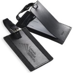 Logo Branded Majestic Leather Luggage Tag