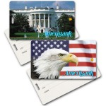 Privacy Luggage Tag w/3D Lenticular Image of the White House (Imprinted) Custom Printed