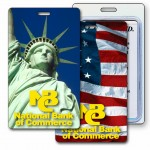 Logo Branded 3D Lenticular Statue of Liberty Stock Image Luggage Tag (Imprinted)