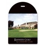"""Logo Branded Laminated Event Tag (3.5""""x5"""") Arch top"""