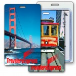 Logo Branded 3D Lenticular San Francisco/ Cable Car Stock Image Luggage Tag (Imprinted)