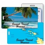 Custom Imprinted 3D Lenticular Beach/ Palm Tree/ Hawaii Stock Image Luggage Tag (Imprinted)