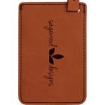 Luggage ID Tag - Rawhide, Leatherette Custom Imprinted
