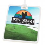Rectangle Golf Tag with Digital Process Imprint Custom Imprinted