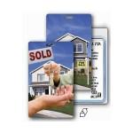 3D Lenticular Real Estate Stock Image Luggage Tag (Imprinted) Custom Printed