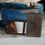 Custom Printed HOOPER Leather Luggage Tag