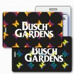 Custom Printed Lenticular Change Color Black Rainbow Butterflies Luggage Tag (Imprinted)