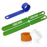 Custom Imprinted Silicone Slap Wristbands Luggage Tag