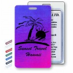 Logo Branded Lenticular Pink/Purple/Blue Changing Color Luggage Tag (Custom)