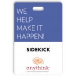 """Laminated Event Tag (2.5""""x3.75"""") Logo Branded"""