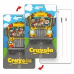 Luggage Tag w/3D Lenticular School Bus Back to School Image - Stock (Imprinted) Custom Printed