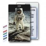 3D Lenticular Astronaut/Moon Image Luggage Tag (Imprinted) Custom Printed