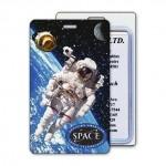 Luggage Tag w/3D Lenticular Image Of Astronaut In Orbit (Imprinted) Custom Imprinted