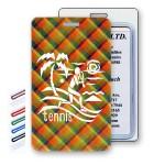 Custom Imprinted Lenticular Flip Thin Plaid Luggage Tag (Imprinted)