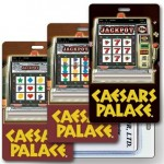 3D Lenticular Slot Machine/ Casino Stock Image Luggage Tag - Vertical (Imprinted) Custom Imprinted