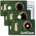 Imprinted 3D Lenticular Golf Gear Stock Image Luggage Tag Custom Printed
