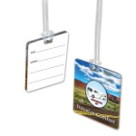 Custom Imprinted 4 Square Inch Custom Acrylic Luggage Bag Tag